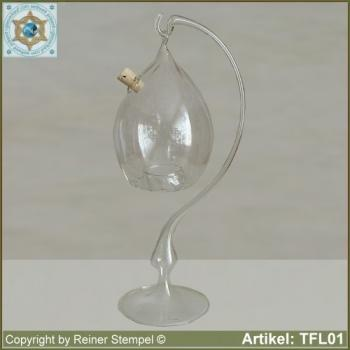 Fly trap wasp trap from crystal clear glass with or without stand