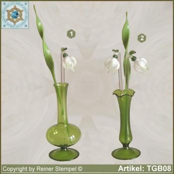 Glass flowers snowdrop Set 3- or 4-pc.