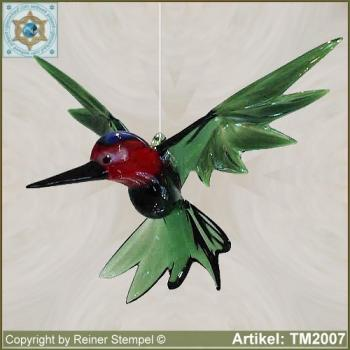 Glass animals glass figurines glass bird kingfisher