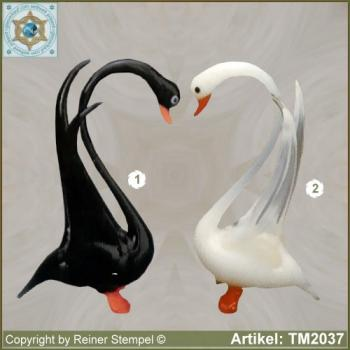 Glass animals glass figurines glass birds swan