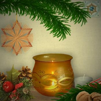 Christmas decoration windlight for Christmas, motif dream wave gold, in 4 variants series gold magic