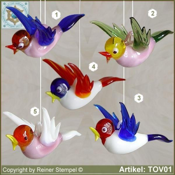 Glass animals glass birds glass bird mini