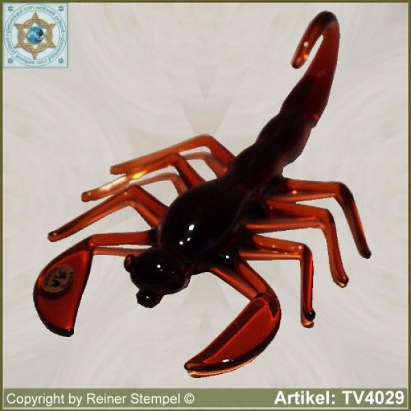 Glass animals glass figurines zodiac sign scorpio