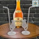 Liquor pipe, cognac pipe crystal clear